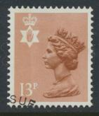 Northern Ireland SG NI37 SC# NIMH21 Used  with first day cancel 13p Machin