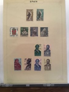 Spain Inc People Stamps pages   R26055
