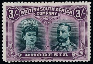 Rhodesia Scott 114 Variety Gibbons 158a Mint Stamp
