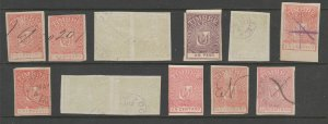 Dominican Republic revenue fiscal stamp 8-26-21 - mix lot - used- A
