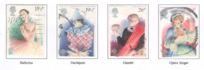 Great Britain Sc 987-0 1982 Europa Performing Arts stamps...