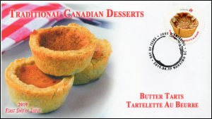 CA19-031, 2019, Traditional Canadian Desserts, Pictorial Postmark, First Day Cov
