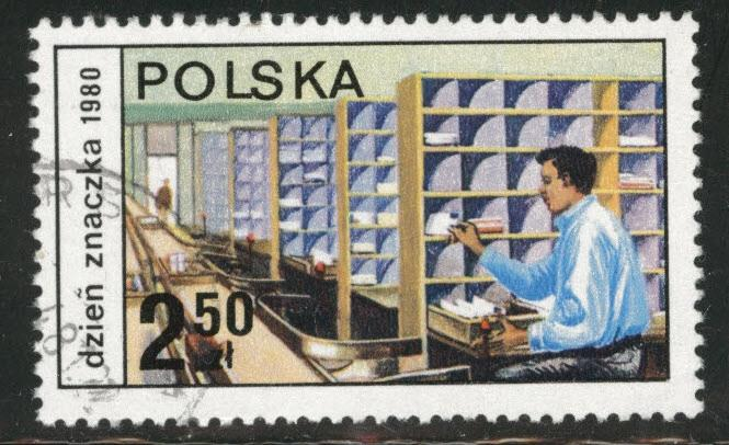 Poland Scott 2420 Used CTO favor canceled stamp 1980