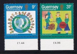 Guernsey  #316-317    MNH  1985   international youth year