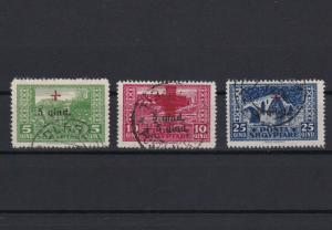 albania 1924 views red cross used stamps cat £100  ref r13173