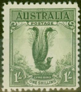 Australia 1932 1s Green SG140 Fine & Fresh Lightly Mtd Mint