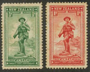 New Zealand B9-B10 Mint VF H age spots
