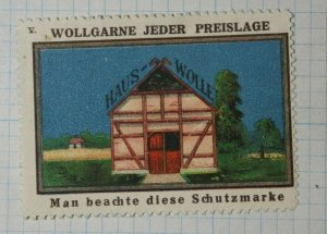 German Wool Yarn House Brand Poster Stamp Ads