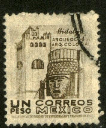 MEXICO 864, $1P 1950 Definitive wmk 279 Used (429)