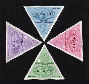1956 FIPEX EXHIBITION LABELS - MINT SET OF 4