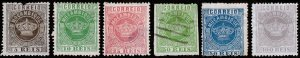 Mozambique Scott 1, 3, 6, 10-12 (1877-81) Mint/Used H F-VF, CV $116.85 C
