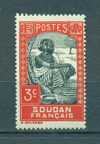 French Sudan sc# 63 mh cat value $.25