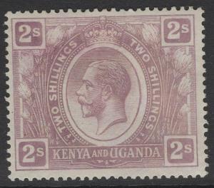 KENYA, UGANDA & TANGANYIKA SG88 1922 2/= DULL PURPLE MTD MINT