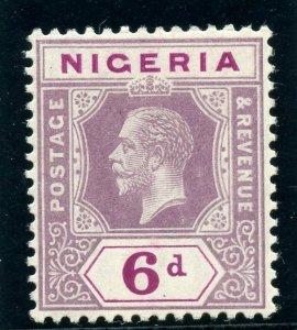 Nigeria 1914 KGV 6d purple & violet MLH. SG 7 variety. B&K G7.