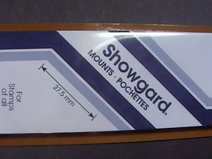 SHOWGARD MOUNTS # 27--215MM LONG x 27MM WIDE---22 STRIPS---BLACK /NEW