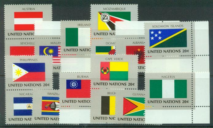 U.N. New York Scott 374-389 VF MNH