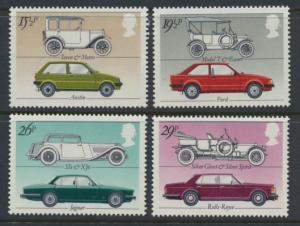 GB SG 1198 -1201  SC# 1002-1005 Mint Never Hinged set - British Motor Cars