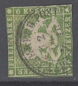 COLLECTION LOT # 2035 WURTTEMBERG  #16 1859 CV=$125 FAULTY