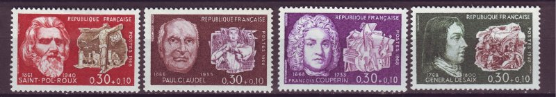 J25158 JLstamps 1968 france mh #b417-20 famous people