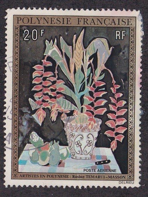 French Polynesia # C107, Still Life by Tenarui-Masson, Used, 1/3 Cat.