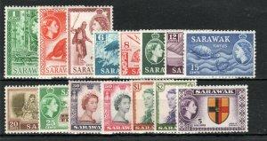 Sarawak 1955-59 set to $5 MNH/MH