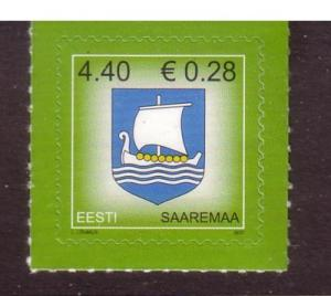 Estonia Sc561 2007 Coat of Arms Euro added stamp NH