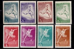 Paraguay Scott 630-637 Tennis stamp set
