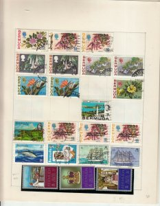 BERMUDA 4 ALBUM PAGES MINT/USED VALUES/SETS  2