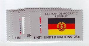 United Nations New York Sc528-43 1988 flags stamps NH