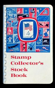 US Old Cut Square Stamp Collection 120 Used in HARRIS Stamp Stock Book Album