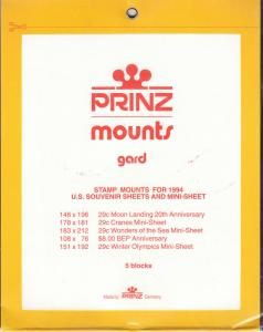 PRINZ BLACK MOUNTS SS94 (5) RETAIL PRICE $9.50