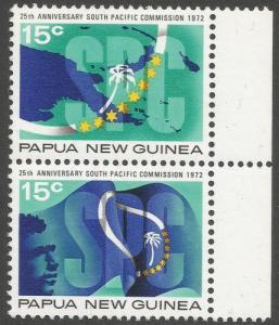 1972 Papua N Guinea Scott 343a So Pacific Commission MNH