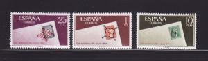 Spain 1350-1352 Set MNH Stamps on Stamps, Stamp Day (A)
