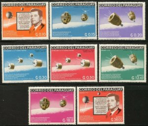 PARAGUAY Sc#994-1001 1966 Kennedy Anniversary-Satellites Complete Mint NH