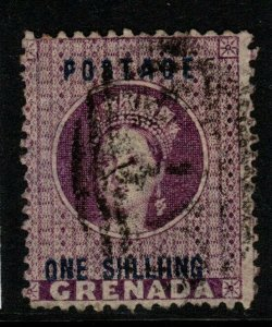 GRENADA SG13a 1875 1/= DEEP MAUVE SHLLIING VARIETY USED