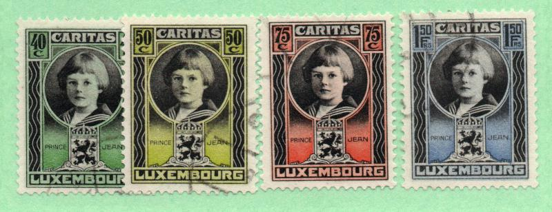 Luxembourg - Sc# B16 - B19 Used/ Cancelled no gum - Lot 0818135