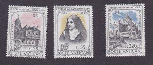Vatican City MNH 534-6 Sister Teresa del Bambino Gesu 1973