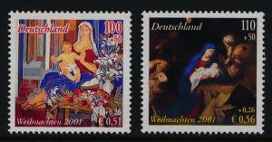 Germany B895-6 MNH Christmas, Madonna & Child, Adoration of the Shepherds
