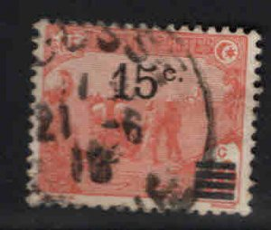 Tunis Tunisia Scott 63 used surcharged stamp