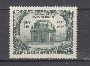 J29463, 1952 austria set of 1 mh #580 building