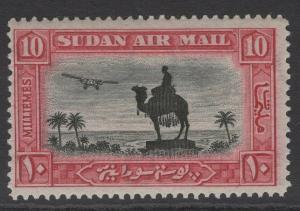 SUDAN SG51 1931 10m BLACK & CARMINE MTD MINT