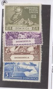 BRITISH BHONDURAS AND DOMINICA VF-MLH UNIVERSAL POSTAL UNIONS