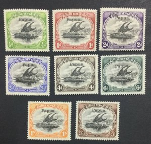 MOMEN: PAPUA NEW GUINEA SG #19-26 1906 MINT OG LH LOT #60212