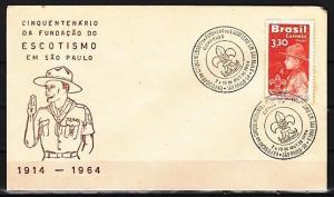 Brazil, 07-15/OCT/64. Scout Anniversary Cancel on Cachet Envelope.