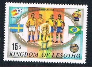 Lesotho 363f MLH Soccor Champions  1958 Sweden 1982 (BP32216)