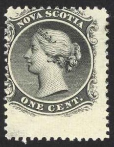 Canada Nova Scotia Sc# 8 MH (d) 1860 1¢ black Queen Victoria