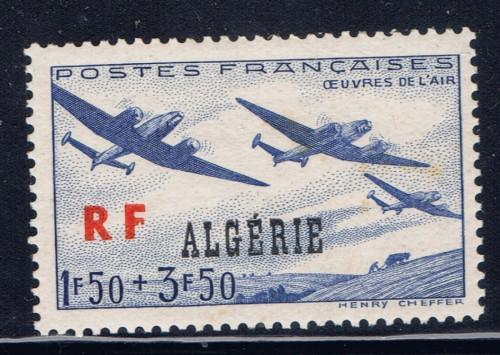 Algeria B43 Hinged 1945 Overprint issue