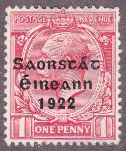 Ireland 45 Hinged 1922 KGV O/P