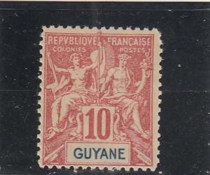 French Guiana  Scott#  38  MH  (1900 Navigation & Commerce)