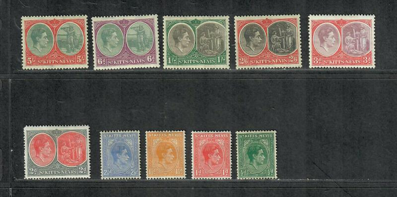 St. Kitts+Nevis Sc#79-88 M/H/VF, Partial Set, Cv. $39.65